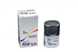 Alap Solución Oftálmica 0.2 % Caja Con Frasco Gotero Con 3 mL Rx