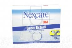 Nexcare Gasa Estéril 10x10 cm Caja Con 20 Sobres Con 5 Unidades C/U