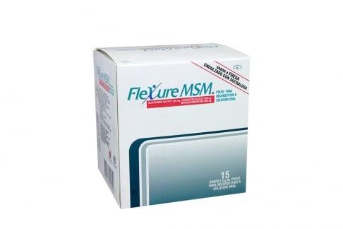 Flexure Msm Sabor a Fresa Caja Con 15 Sobres 8 g Rx