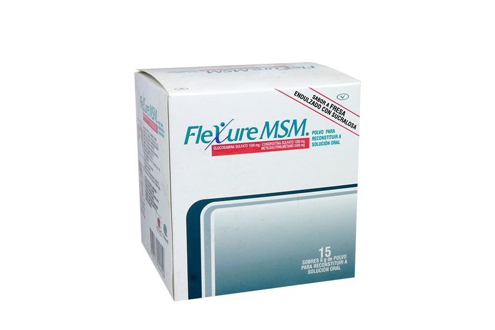 Flexure Msm Caja Con 15 Sobres 8 g - Sabor a Fresa Rx