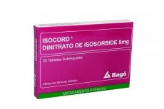 Isocord 5 mg Caja Con 20 Tabletas Sublinguales Rx