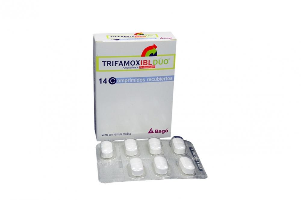 Trifamox IBL Dúo 875 / 125 mg Caja Con 14 Comprimidos Recubiertos Rx2
