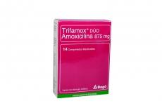 Trifamox Dúo 875 mg Caja Con 14 Comprimidos Masticables Rx2