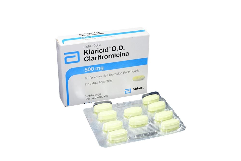 Comprar Klaricid O D 500 Mg Con 10 Tabletas Farmalisto Colombia