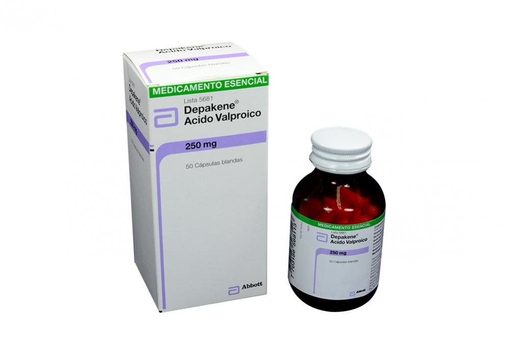 Depakene 250 Mg Frasco Con 50 Cápsulas Blandas Rx