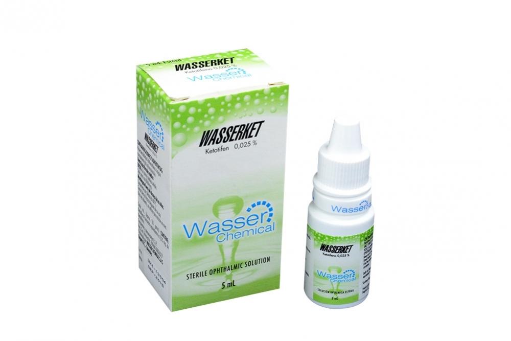 Wasserket Solución 0.025% Caja Con Frasco Con 5 mL Rx