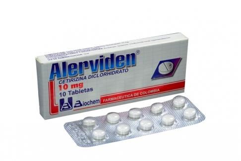 Alerviden 10 mg Caja Con 10 Tabletas Rx