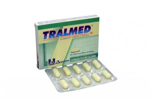 Tralmed Caja Con 10 Tabletas Recubiertas Rx