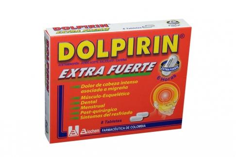Dolpirin Extra Fuerte Caja Con 8 Tabletas