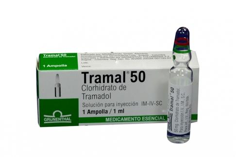 Tramal Solución Para Inyección 50 mg Caja Con 1 Ampolla De 1 mL Rx
