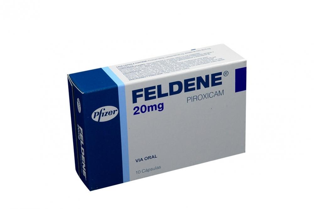 Feldene 20 mg Caja Con 10 Cápsulas Rx