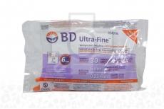 BD Ultra Fine Jeringas Para Insulina 6 mm  Bolsa Con 30 Unidades