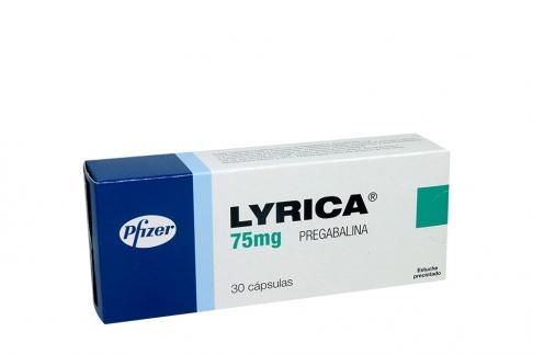 Lyrica Pfizer 75 mg Caja Con 30 Cápsulas Rx1 Rx4