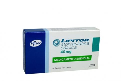 Lipitor 40 Mg Caja Con 14 Tabletas Recubiertas Rx