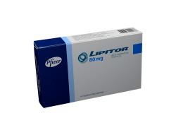 Lipitor 80 mg Caja Con 14 Tabletas Recubiertas  Rx