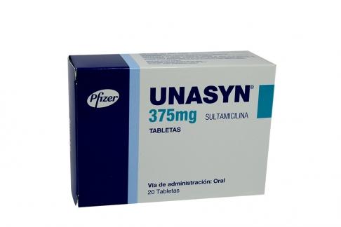 Unasyn 375 mg Caja Con 20 Tabletas Rx2