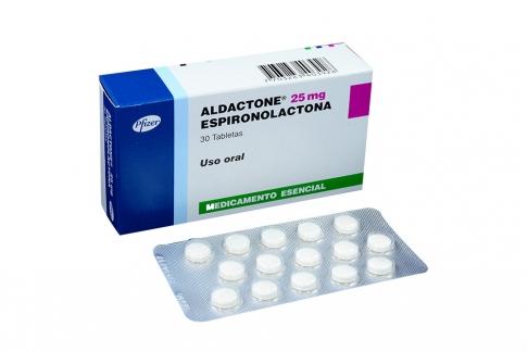 Aldactone 25 mg Caja Con 30 Tabletas Rx4