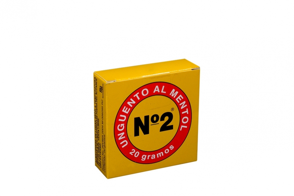 Ungüento Al Mentol N° 2 Caja Con Frasco Con 20 g