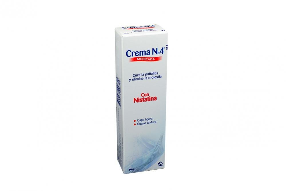 Crema N° 4 Medicada Caja Con Tubo Con 30 g