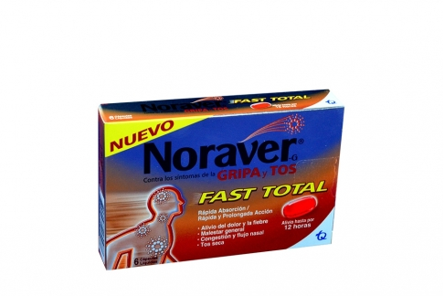 Noraver-G Gripa Fast Total Caja Con 6 Cápsulas Líquidas