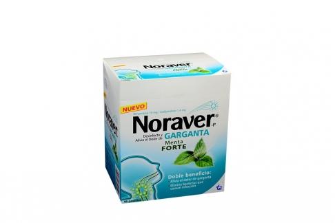 Noraver Garganta 10 / 1.4 mg Caja Con 96 Pastillas - Sabor Menta Forte