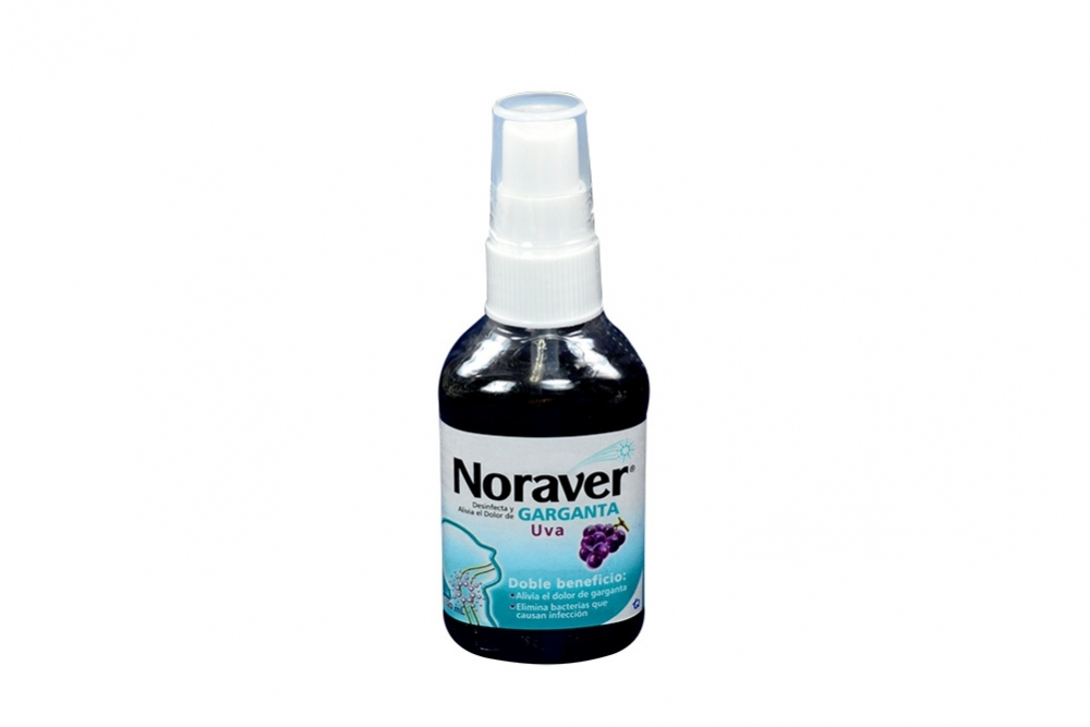 Noraver Garganta Frasco Spray Con 120 mL - Sabor Uva
