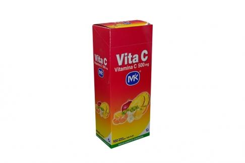 Vita C 500 mg Caja Con 100 Tabletas Masticables - Sabor Tutti Frutti