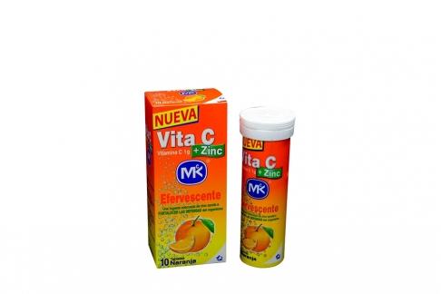 Vita C + Zinc 1 g Caja Con Frasco Con 10 Tabletas