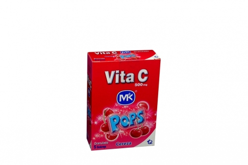 Vita C Pops Mk 500 mg Caja x 5 Sobres