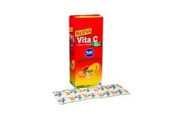 Vita C + Zinc 500 mg Caja Con 100 Tabletas Masticables – Sabor Tutti Frutti