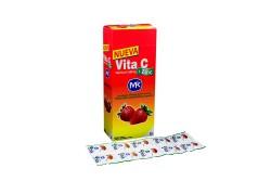 Vita C + Zinc 500 mg Caja Con 100 Tabletas Masticables – Sabor Fresa