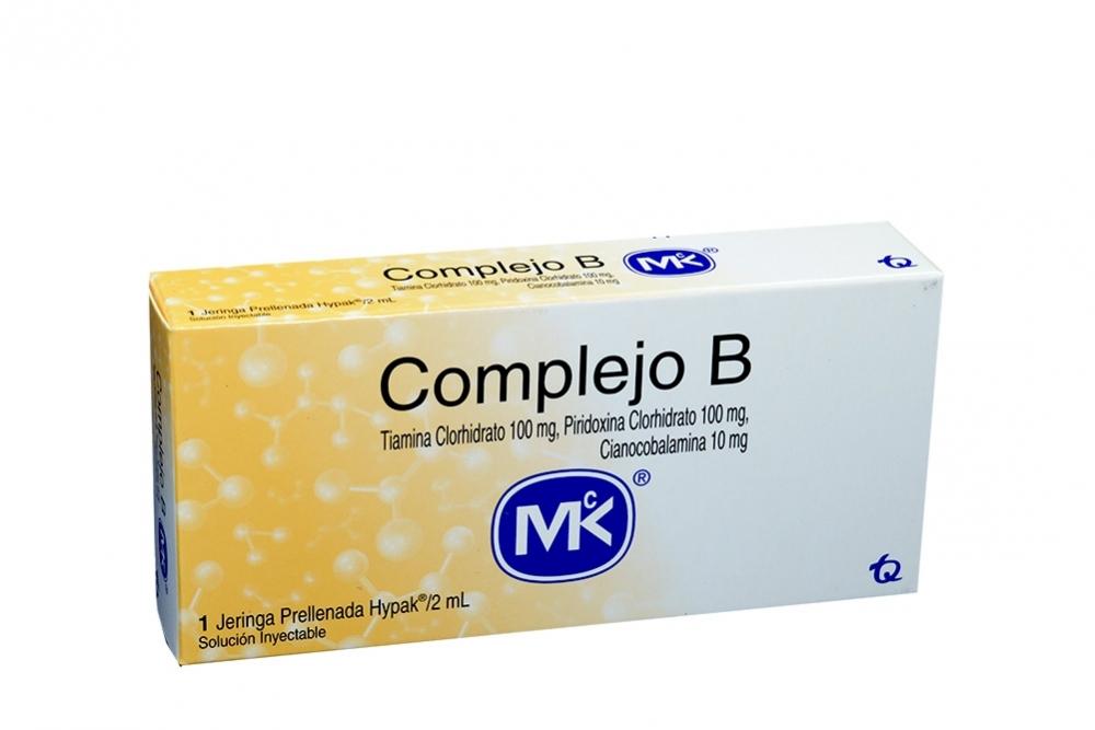 Complejo B 100 / 100 / 10 mg Caja Con 1 Jeringa Prellenada Con 2 mL Rx