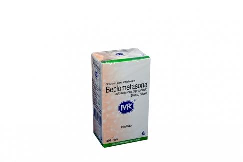 Beclometasona 50 mcg Caja Con Frasco Inhalador Con 200 Dosis Rx