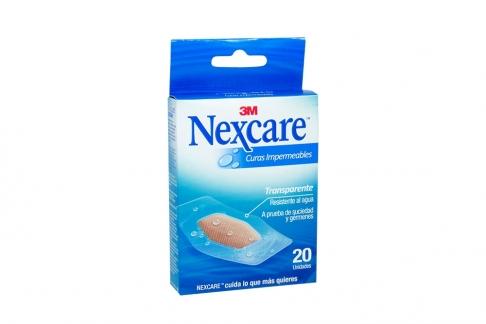 Nexcare Curas Impermeables Transparente Caja Con 20 Unidades