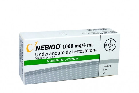 Nebido 1000 mg / 4 mL Caja Con 1 Ampolla Inyectable Rx