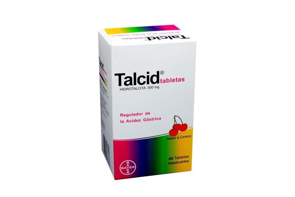 Talcid 500 mg Caja Con 60 Tabletas Masticables – Sabor Cereza