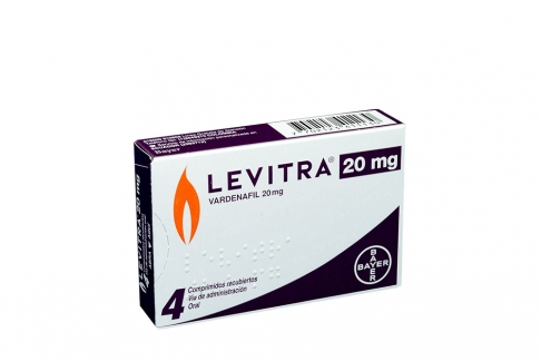 Levitra 20 mg Caja Con 4 Comprimidos Recubiertos Rx