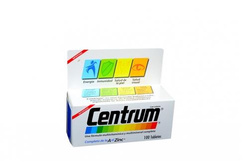 Centrum De La A Al Zinc Caja X 100 Tabletas