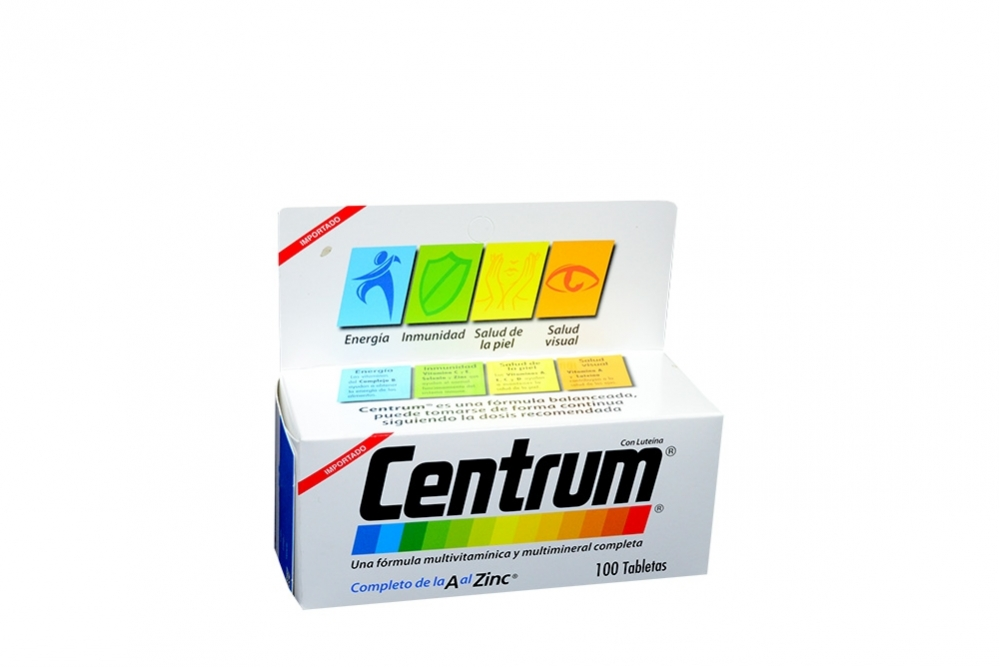 Centrum De La A Al Zinc Caja Con 100 Tabletas