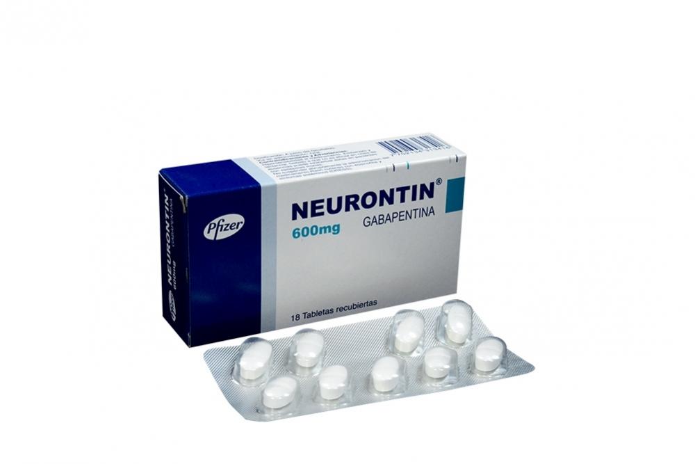 Neurontin 600 mg Caja Con 18 Tabletas Recubiertas Rx4 Rx1