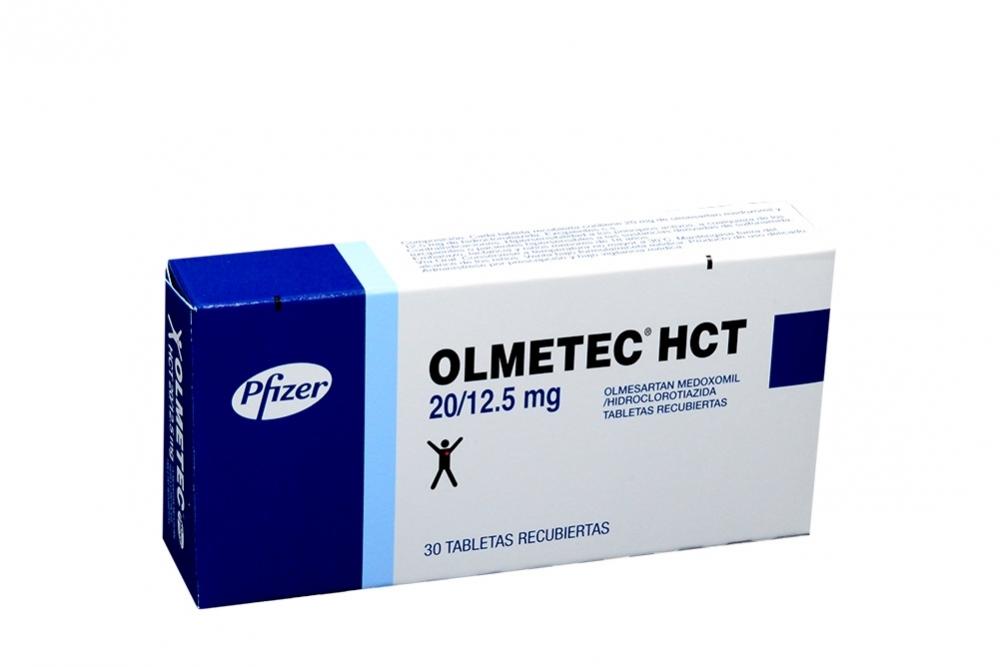 Olmetec Pfizer HCT 20 / 12.5 mg Caja Con 30 Tabletas Recubiertas Rx4