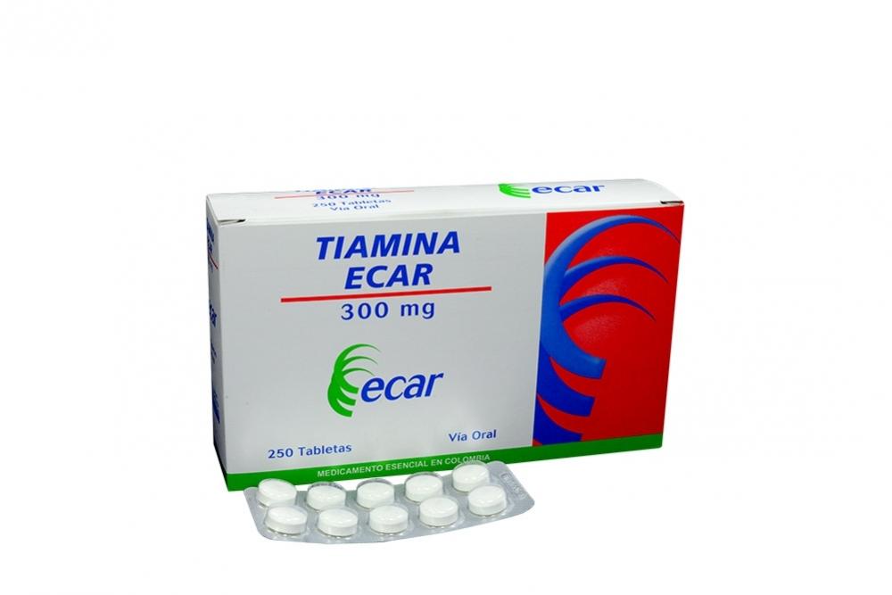 Tiamina Ecar 300 mg Caja Con 250 tabletas Rx