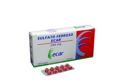 Sulfato Ferroso Ecar 200 mg Caja Con 250 Grageas Rx
