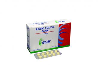 Ácido Fólico Ecar 1 mg Caja Con 250 Tabletas Rx