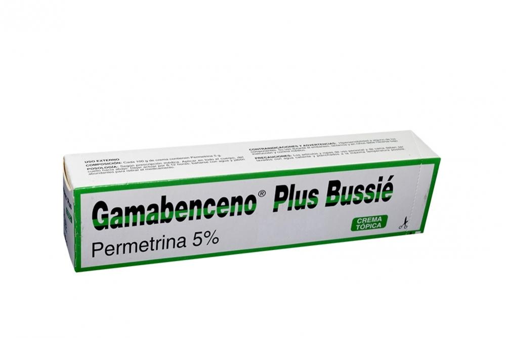 Gamabenceno Plus Crema 5% Caja Con Tubo Con 60 g Rx