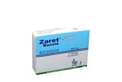 Zaret 500 mg Caja Con 3 Tabletas Recubiertas Rx