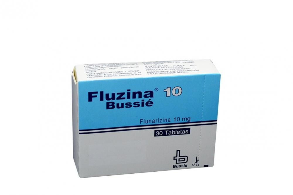 Fluzina Bussié 10 mg Caja Con 30 Tabletas Rx