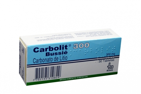 Carbolit 300 mg Caja X 30 Tabletas Rx