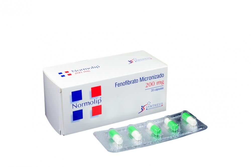 Normolip 200 mg Caja Con 20 Cápsulas Rx4