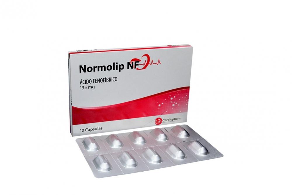 Normolip Nf 135 mg Caja Con 10 Cápsulas Rx4